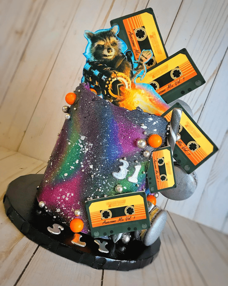 Delicate Star Lord Cake