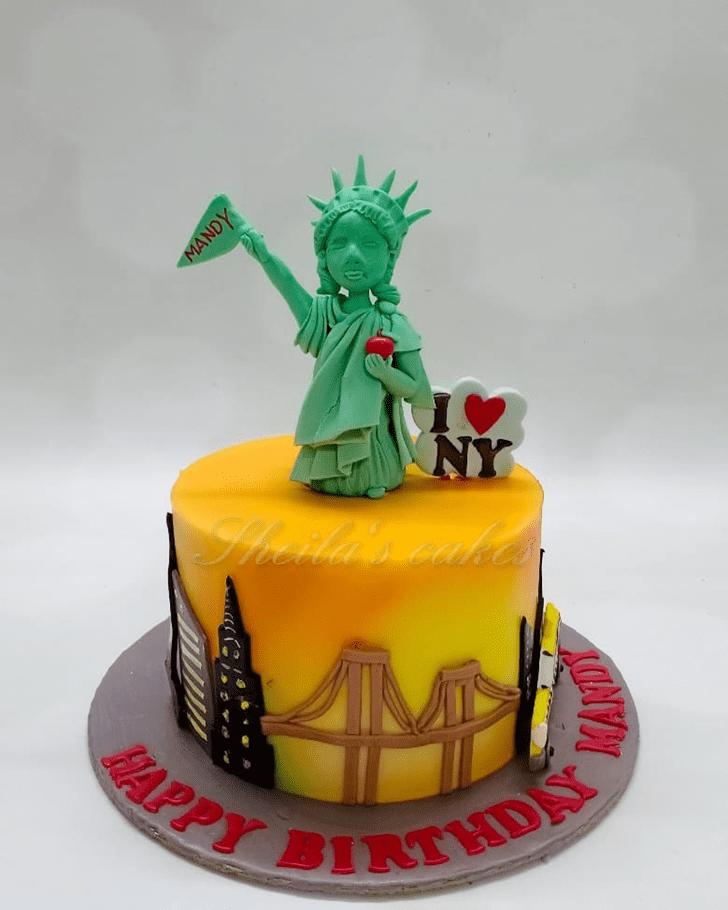 Appealing Statue of Liberty Cake