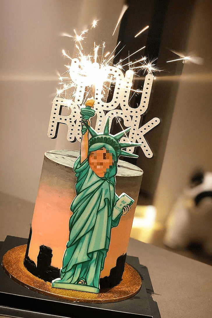 Enticing Statue of Liberty Cake