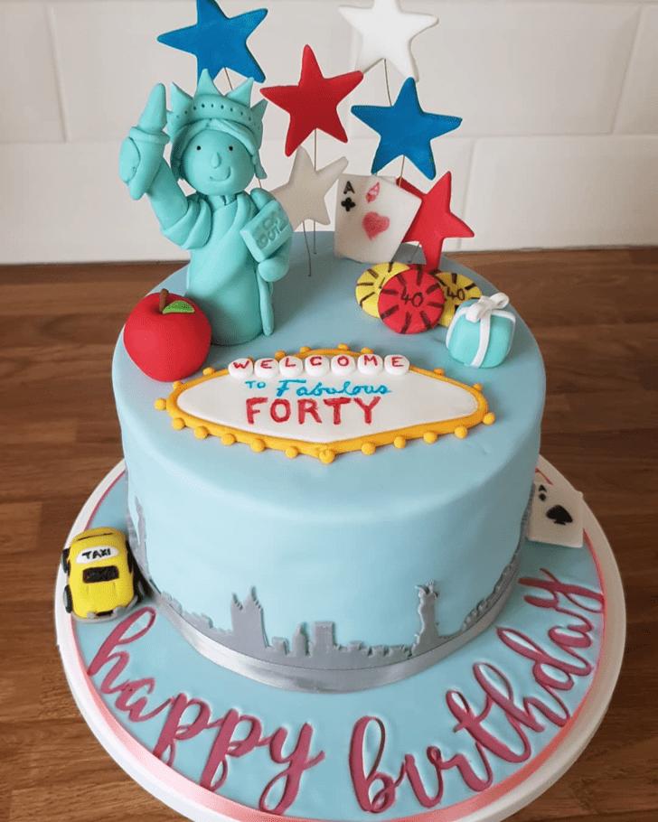 Fascinating Statue of Liberty Cake