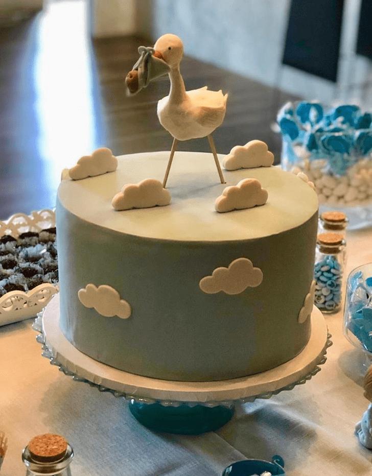Classy Stork Cake