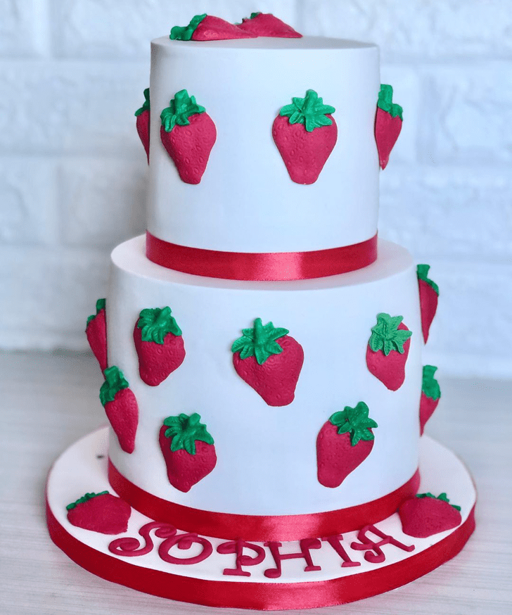 Alluring Strawberry Cake