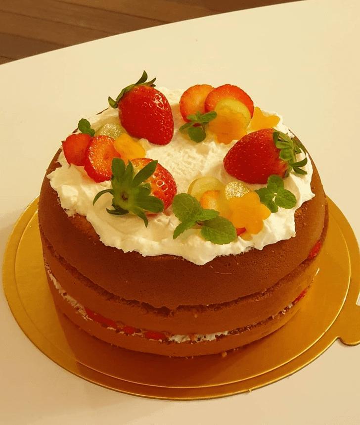 Delicate Strawberry Cake