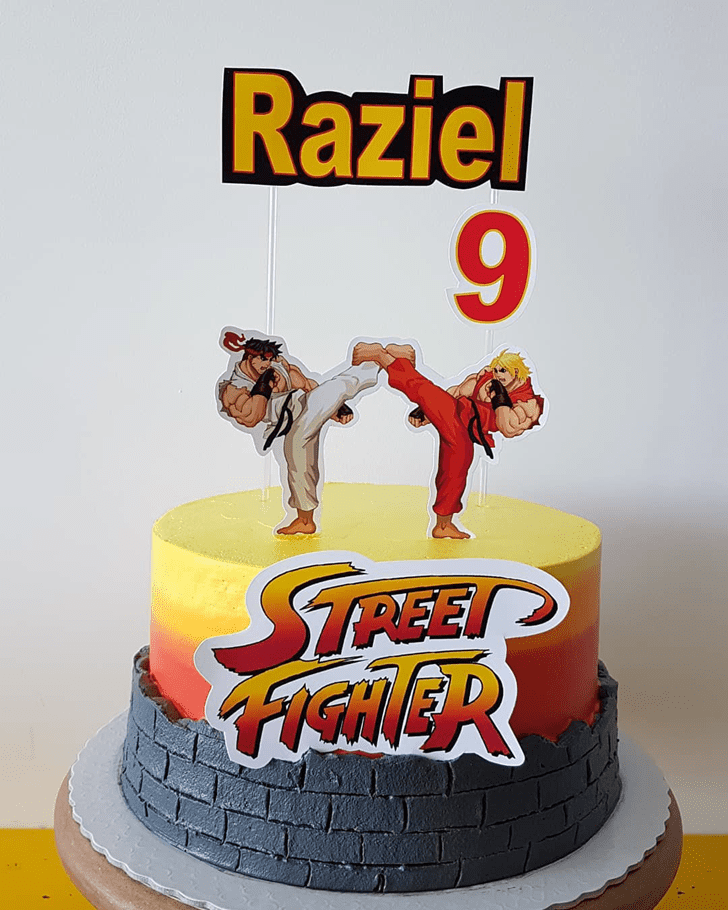 Admirable Street Fighter Cake Design