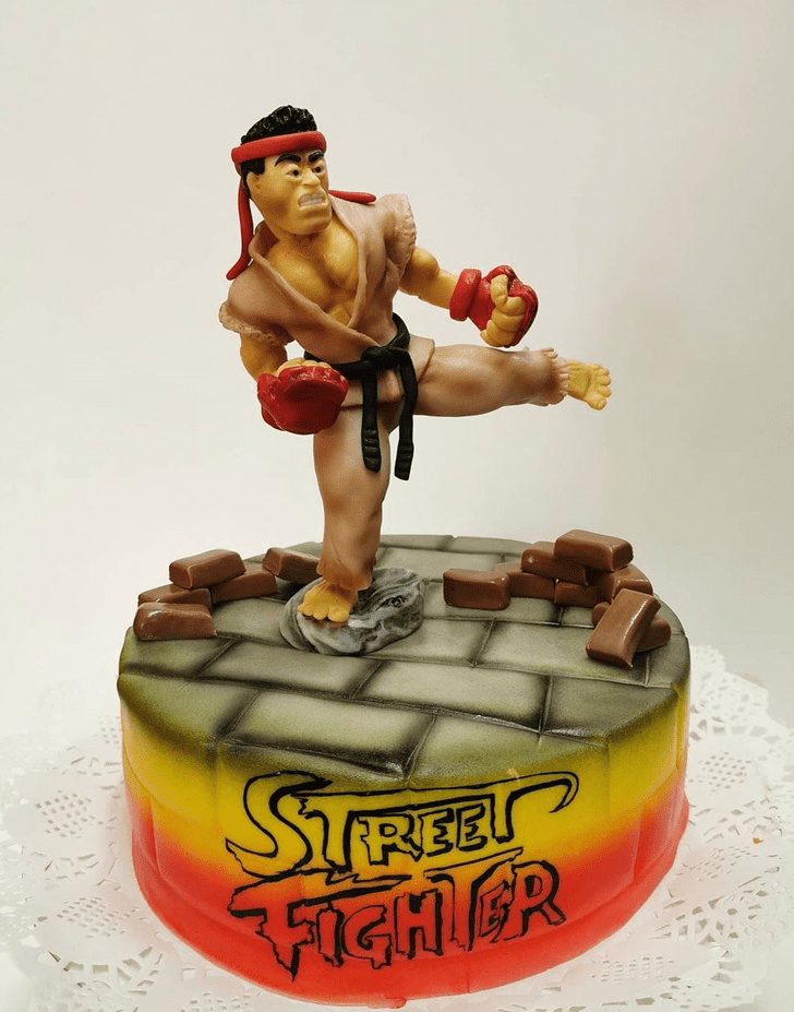 Adorable Street Fighter Cake