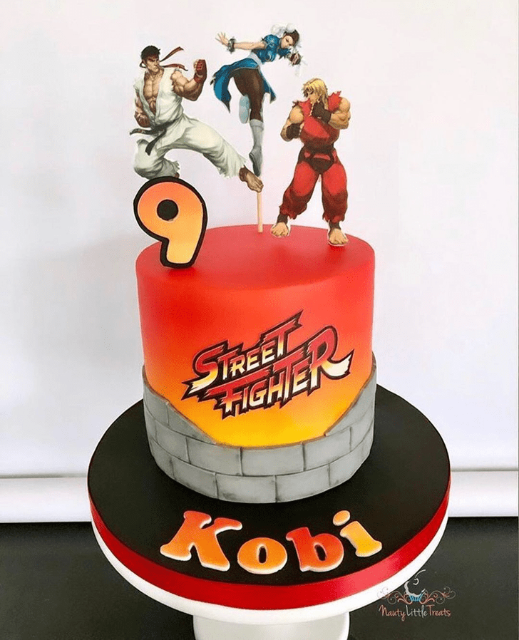 Alluring Street Fighter Cake