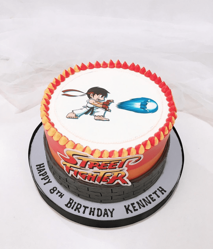Angelic Street Fighter Cake
