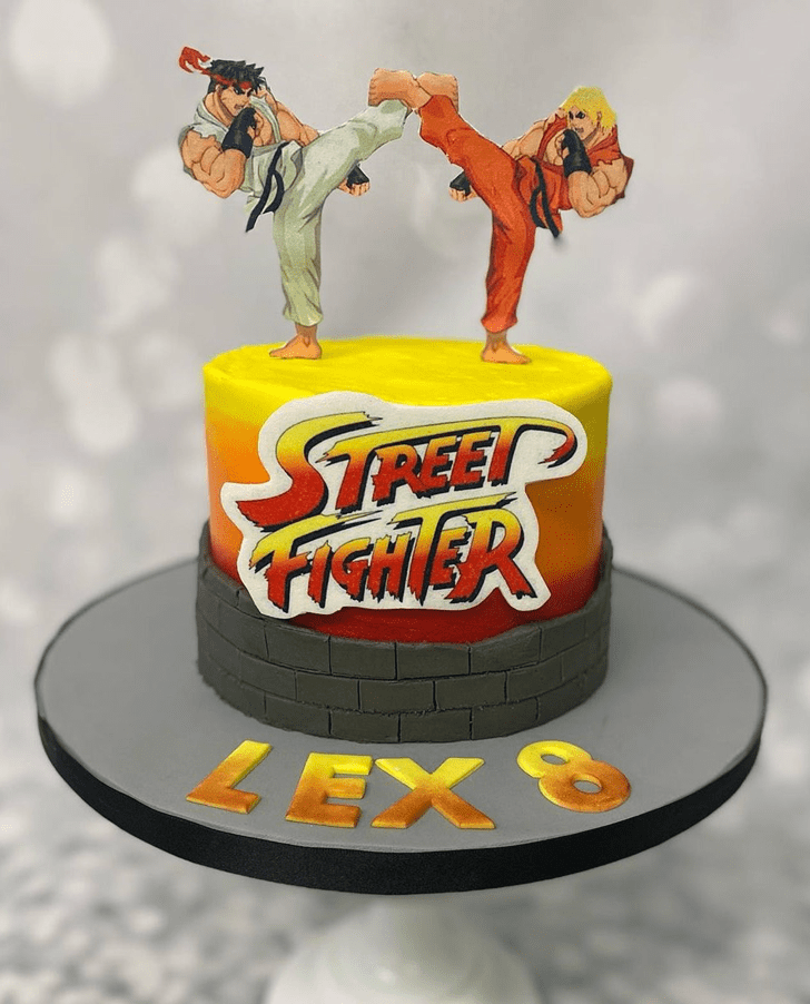 Beauteous Street Fighter Cake