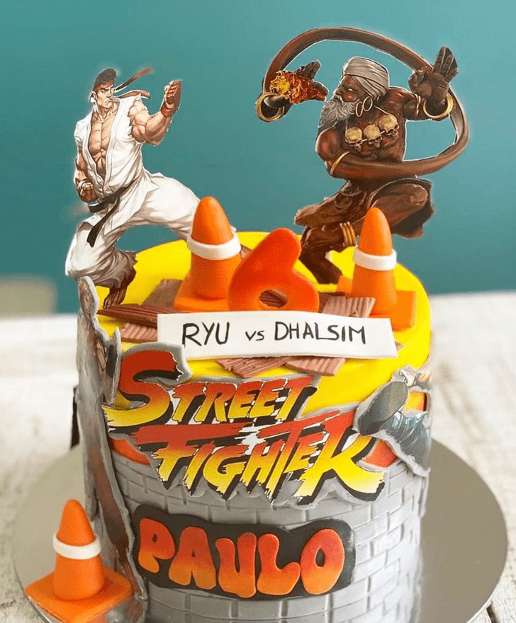 Bewitching Street Fighter Cake