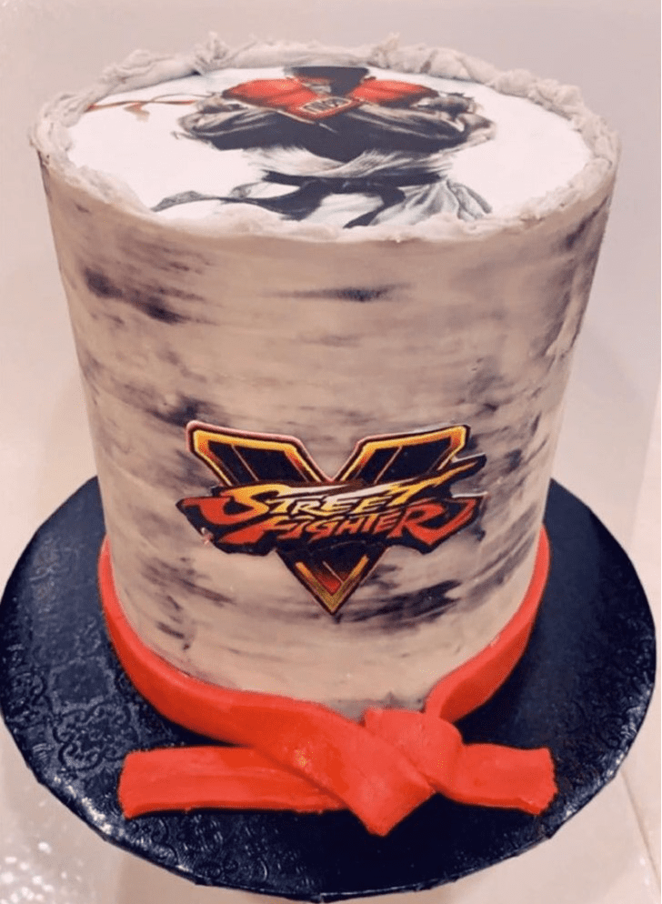 Captivating Street Fighter Cake