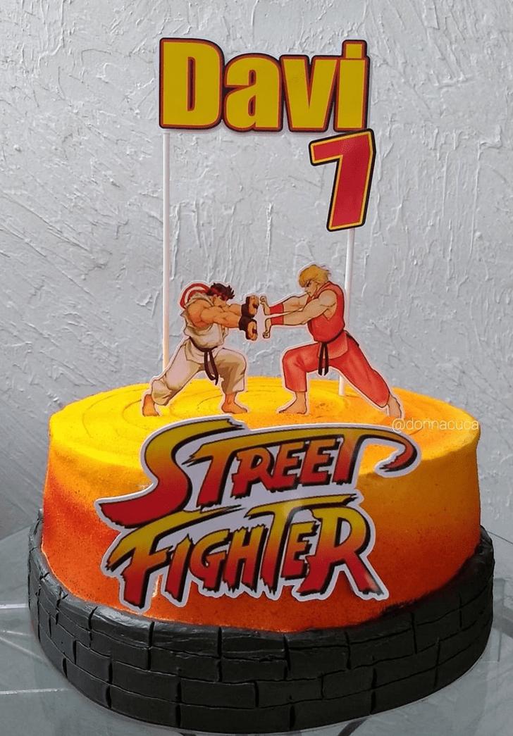 Charming Street Fighter Cake