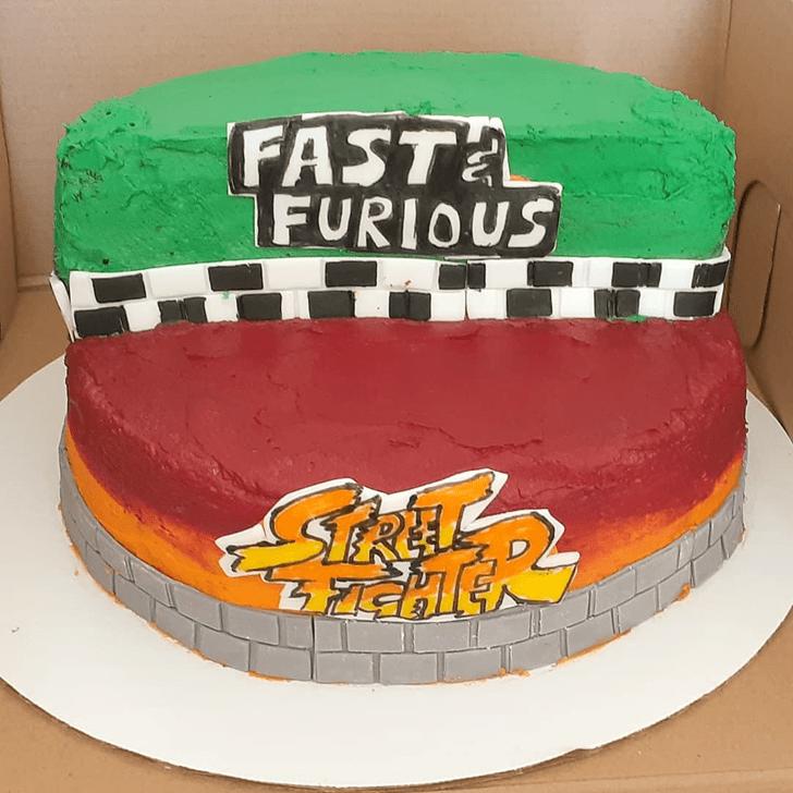 Classy Street Fighter Cake