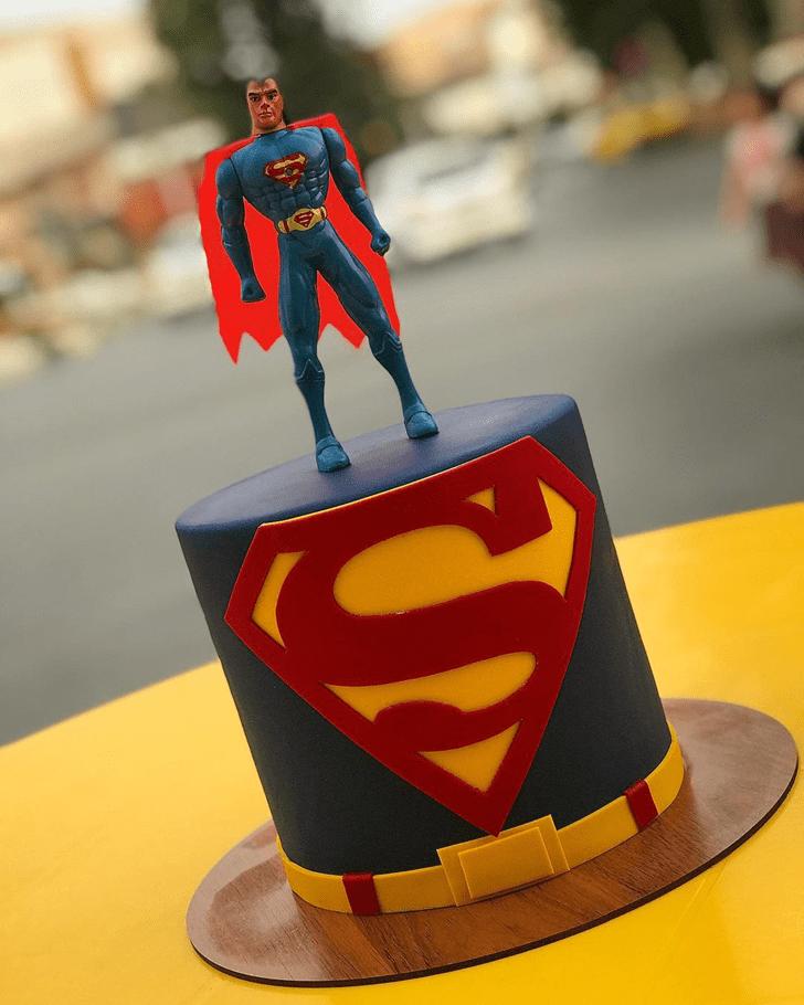 Admirable Superman Cake Design