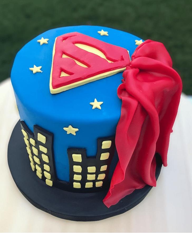 Alluring Superman Cake