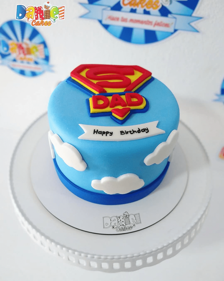 Charming Superman Cake