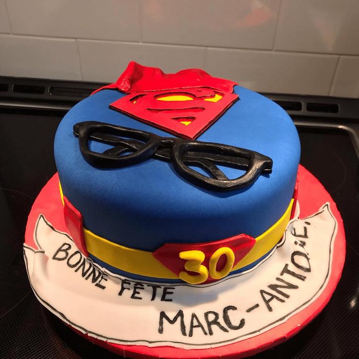 Classy Superman Cake