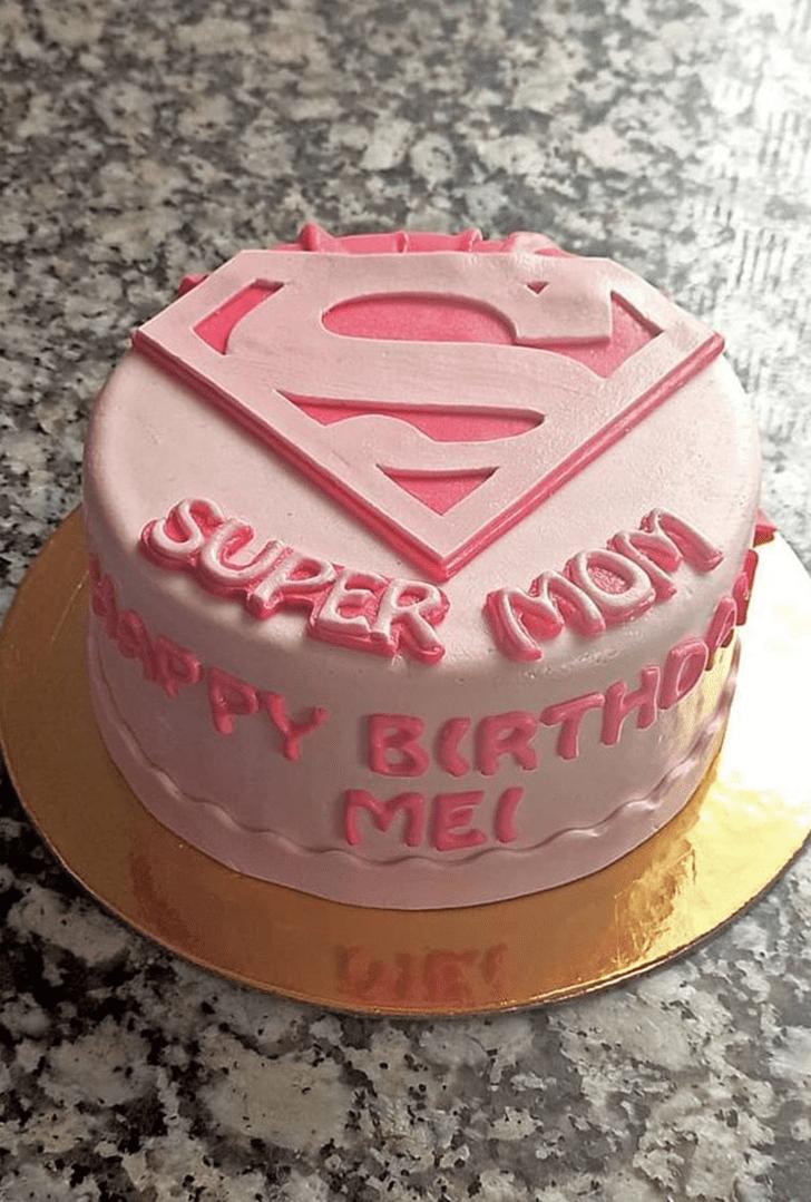 Admirable Supermom Cake Design