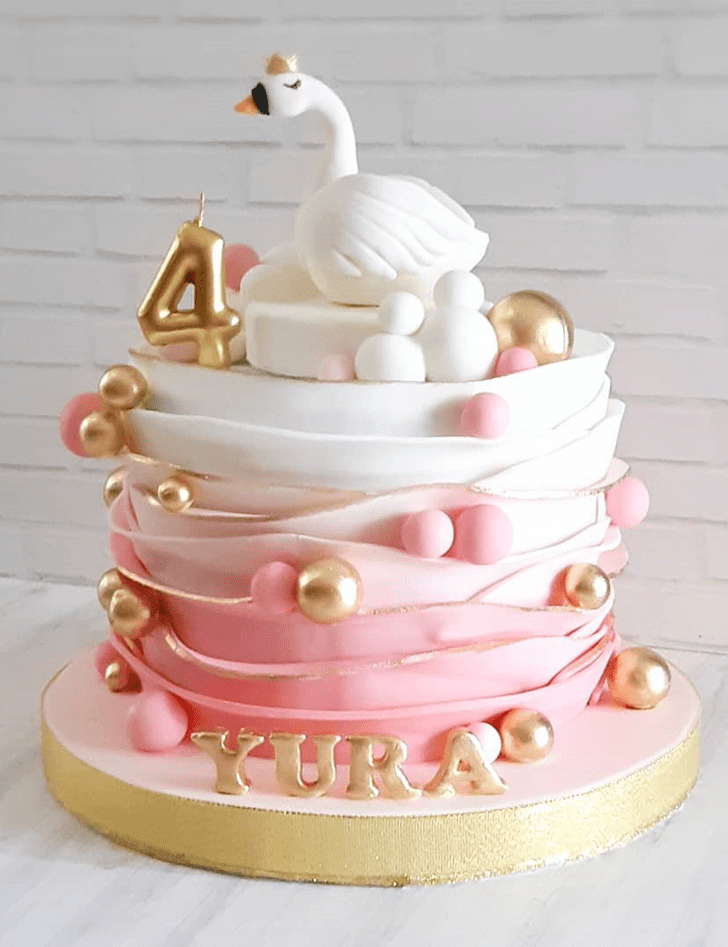 Captivating Swan Cake