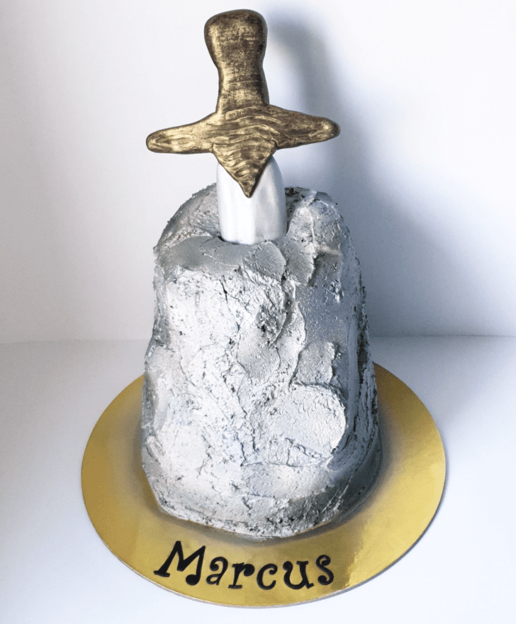 Comely The Sword in the Stone Cake