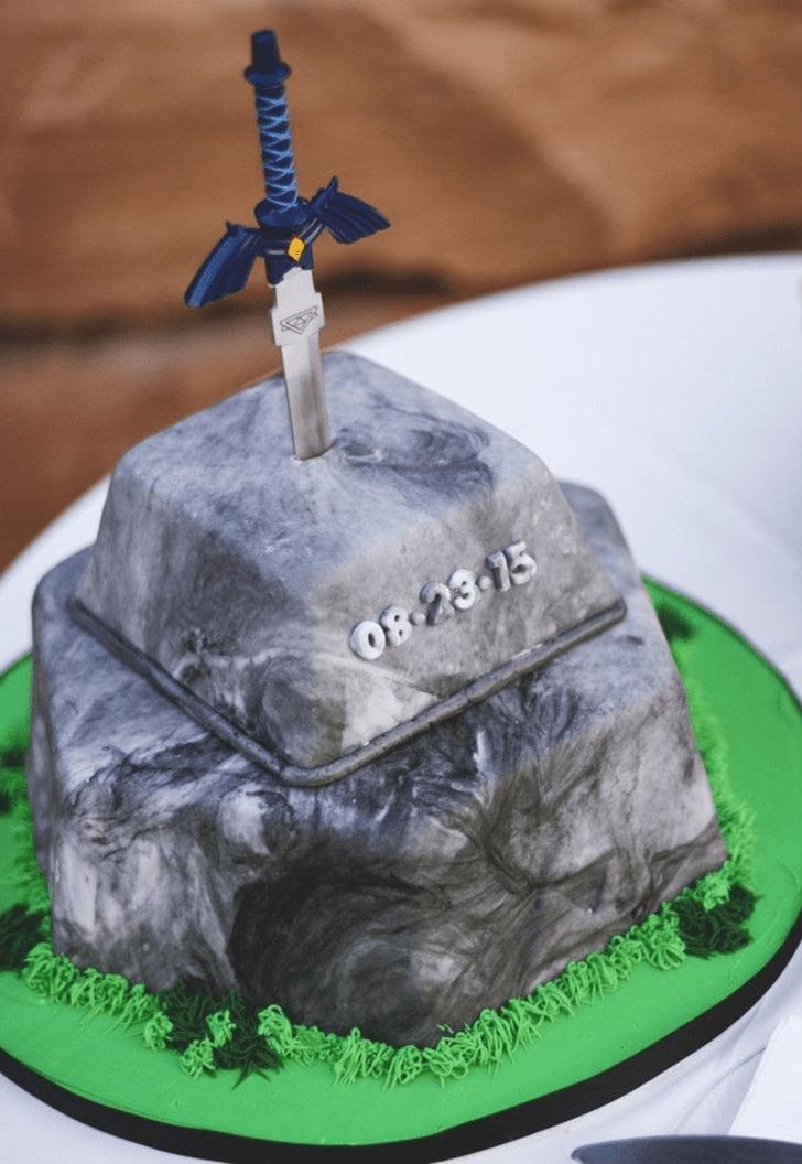 Delicate The Sword in the Stone Cake