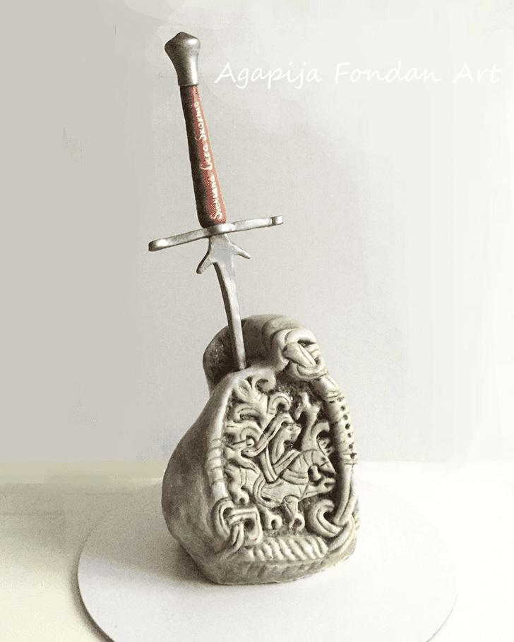 Delightful The Sword in the Stone Cake