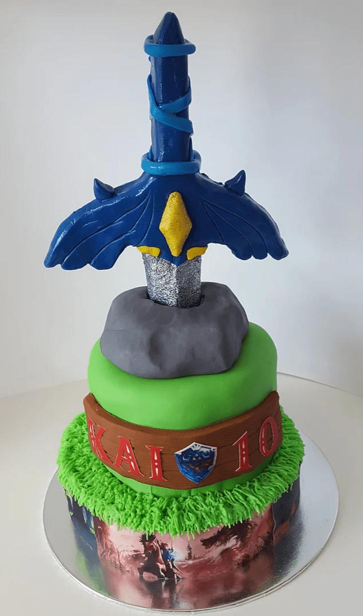 Elegant The Sword in the Stone Cake