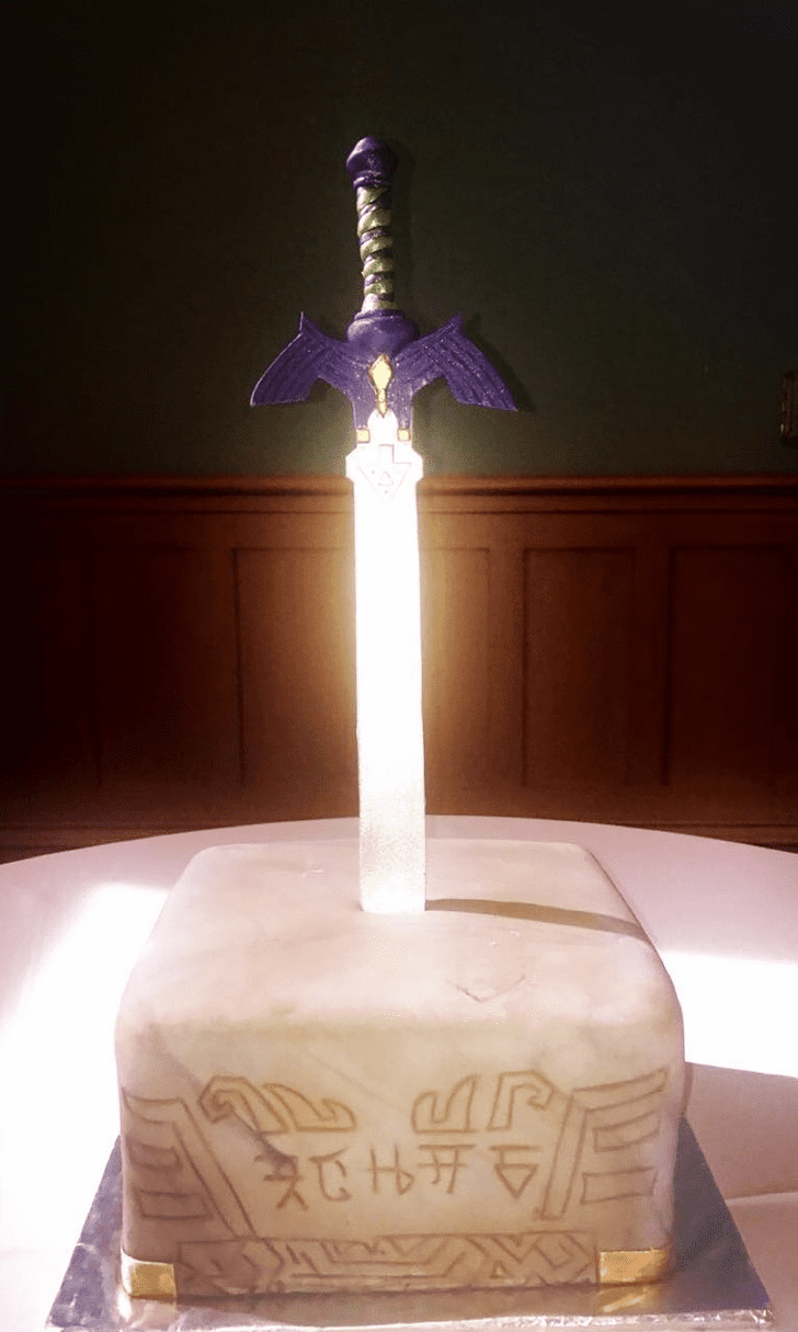 Enthralling The Sword in the Stone Cake