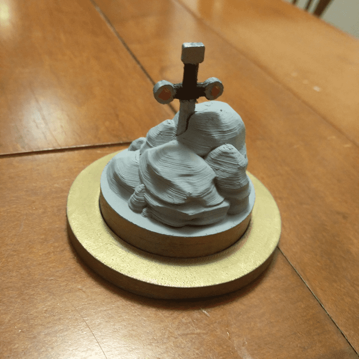 Enticing The Sword in the Stone Cake