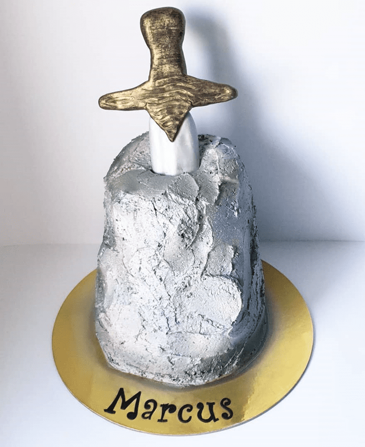 Grand The Sword in the Stone Cake