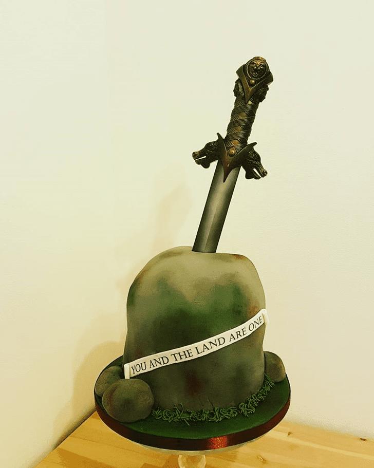 Ravishing The Sword in the Stone Cake