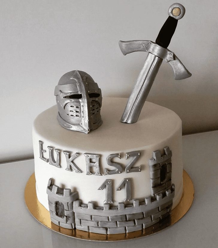Slightly The Sword in the Stone Cake