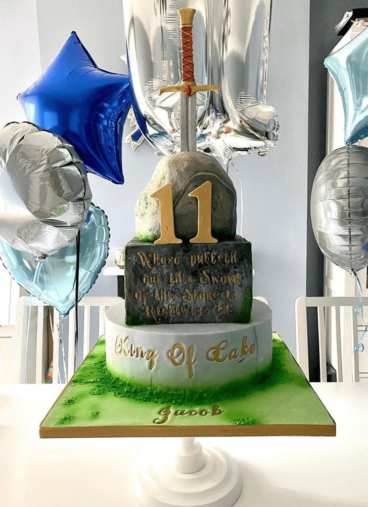 Splendid The Sword in the Stone Cake