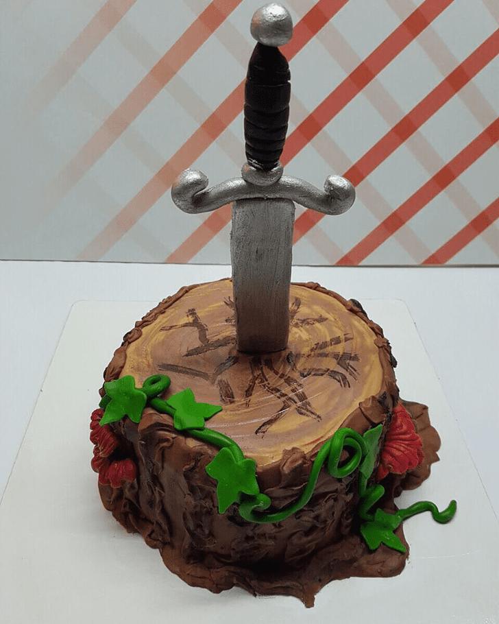 Wonderful The Sword in the Stone Cake Design