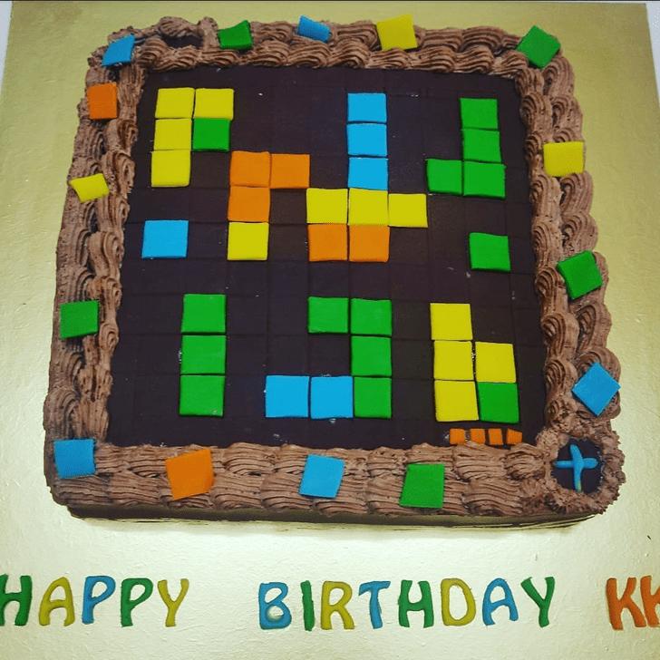 Adorable Tetris Cake