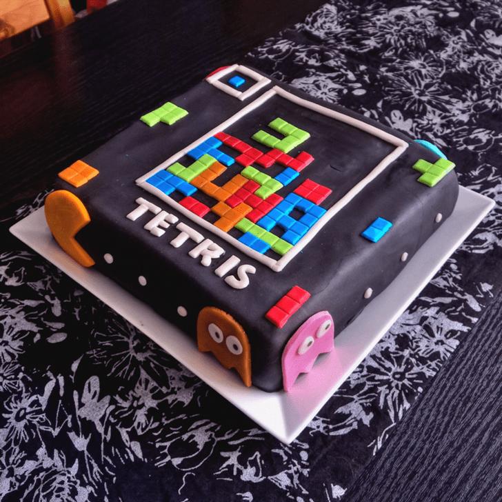 Alluring Tetris Cake