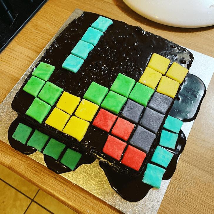 Appealing Tetris Cake
