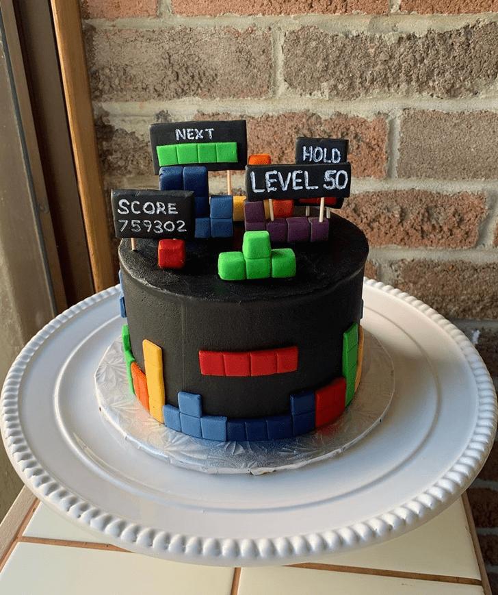 Beauteous Tetris Cake