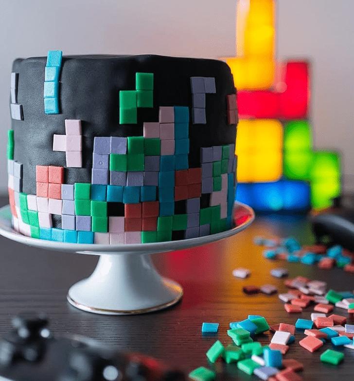 Captivating Tetris Cake