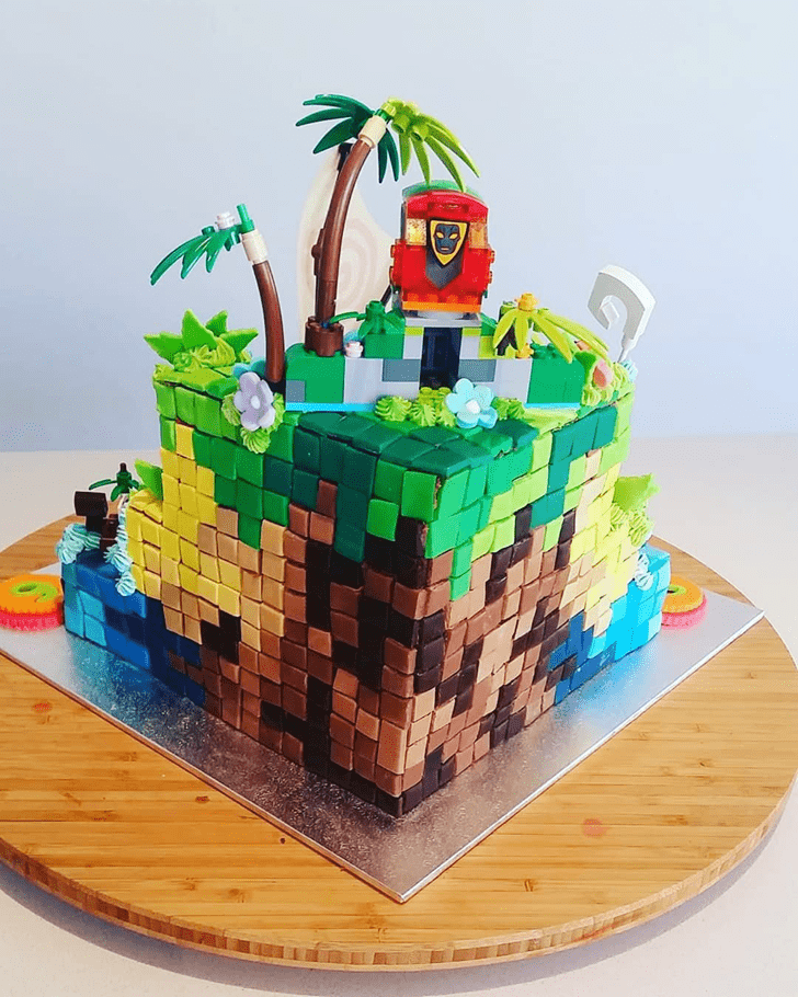 Delicate Tetris Cake