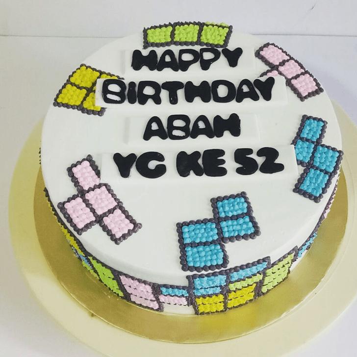 Inviting Tetris Cake