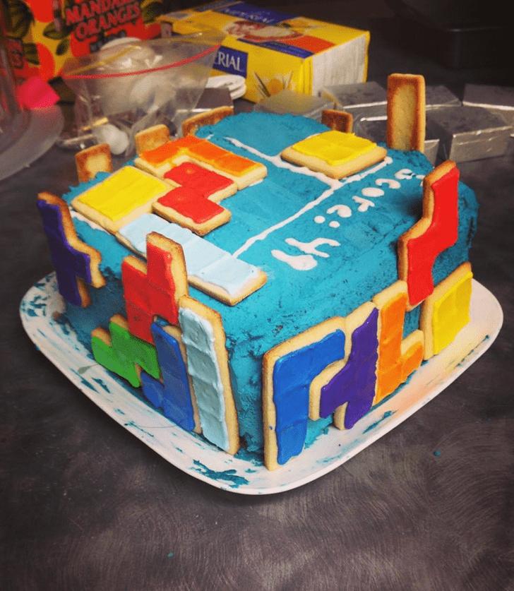 Magnetic Tetris Cake