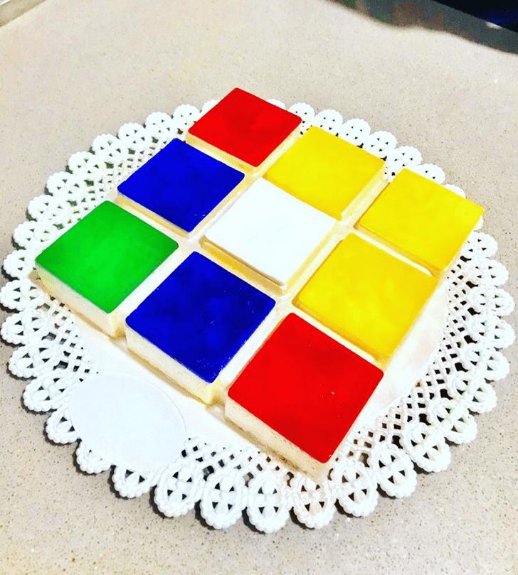 Pretty Tetris Cake