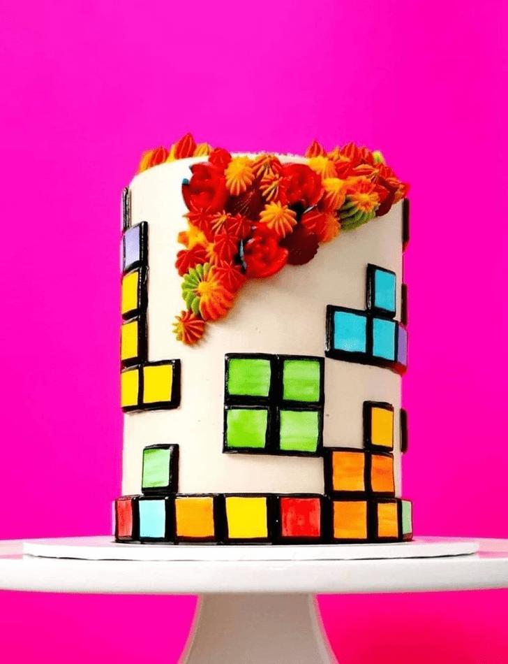 Slightly Tetris Cake