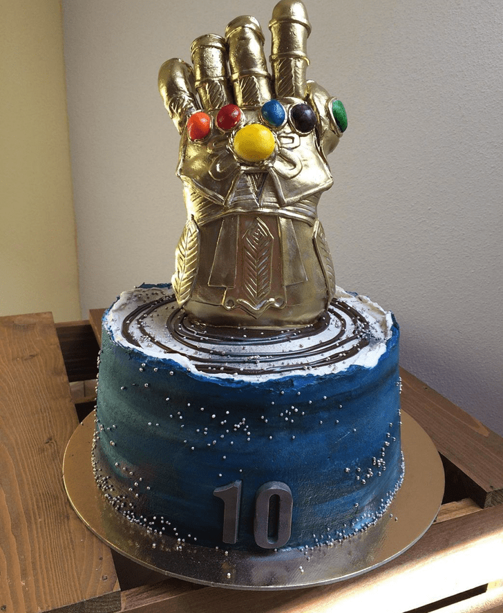 Adorable Thanos Cake