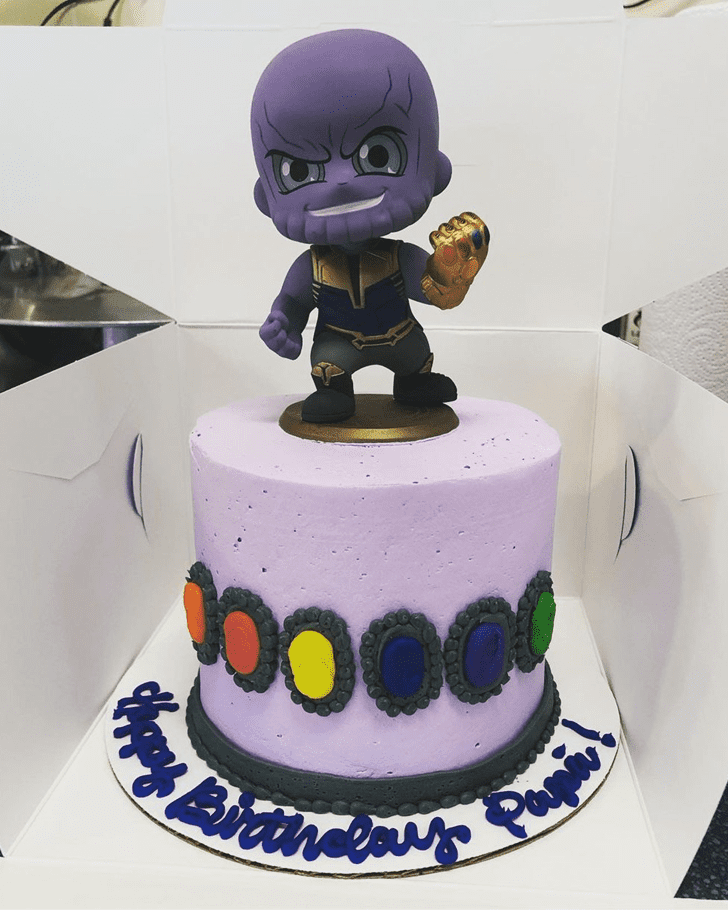 Angelic Thanos Cake