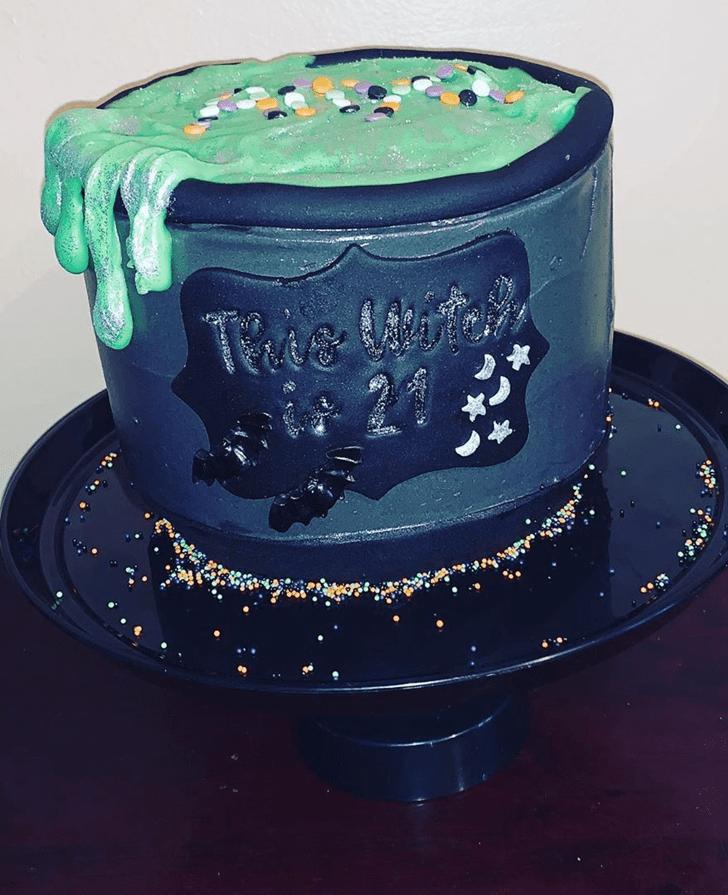 Admirable The Black Cauldron Cake Design