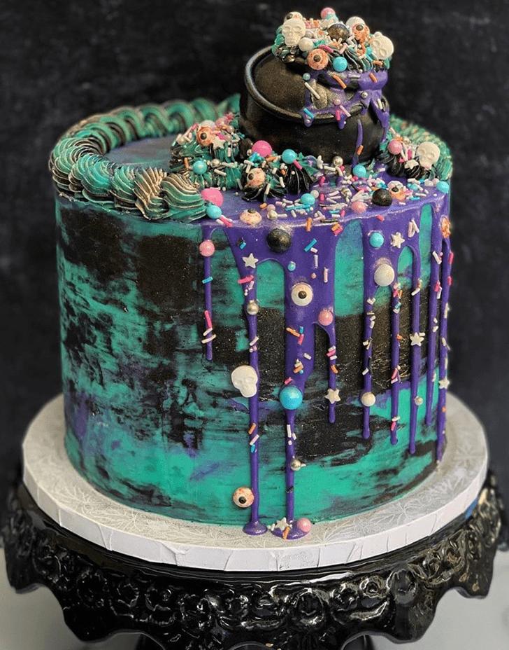 Alluring The Black Cauldron Cake