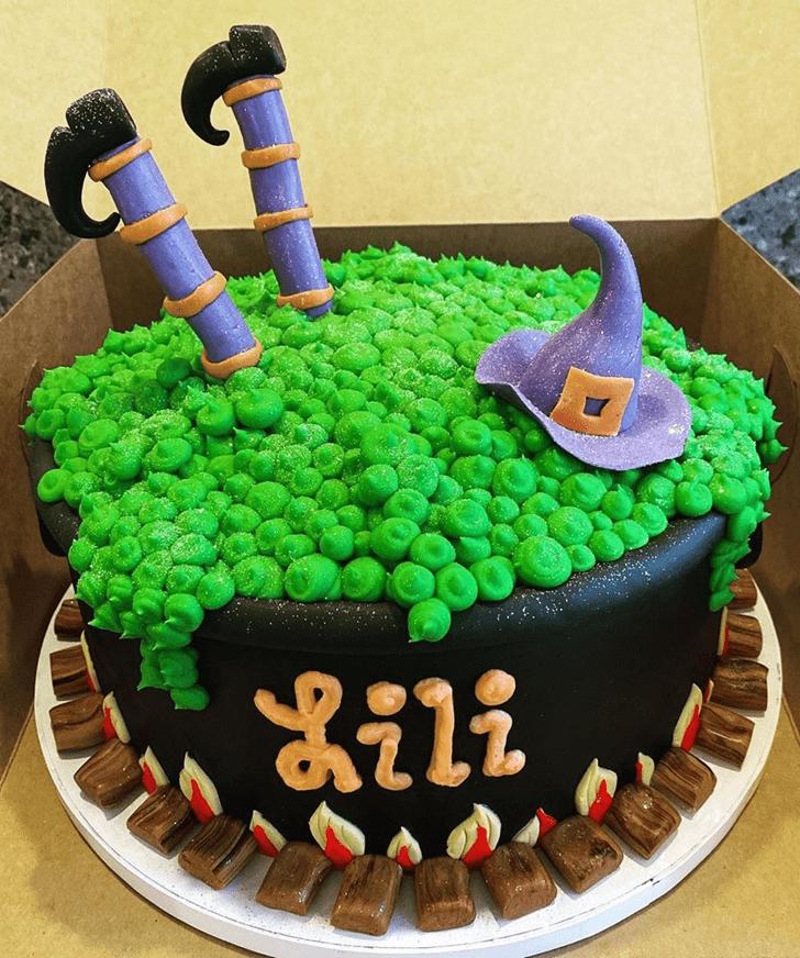 Bewitching The Black Cauldron Cake