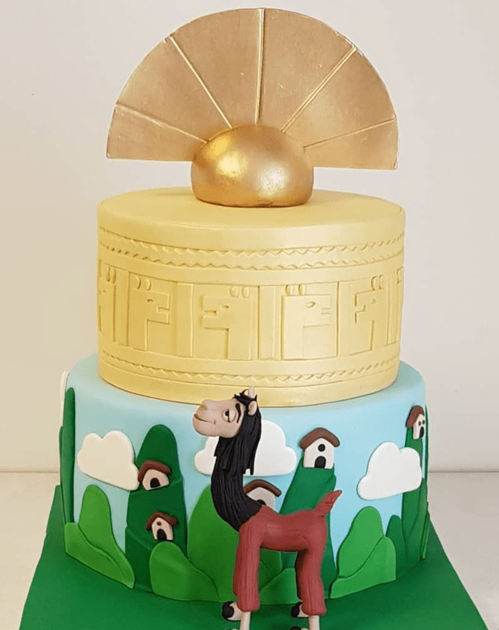 Adorable The Emperor's New Groove Cake