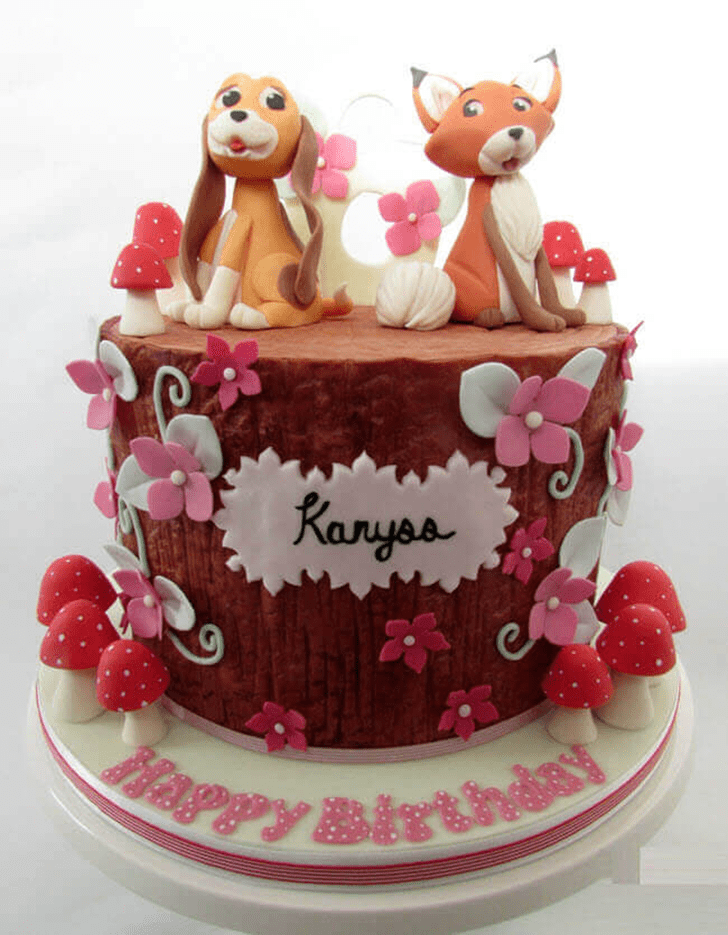 Classy The Fox and the Hound Cake